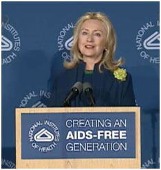 Clinton-Aids-day